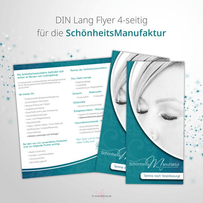 Schönheitsmanufaktur - Manuela Gresser - 2018: Flyerdesign DIN Lang