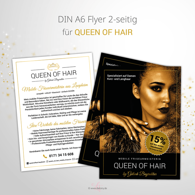 Queen of Hair - Gülsah Bayraktar - 2018: Flyerdesign A6