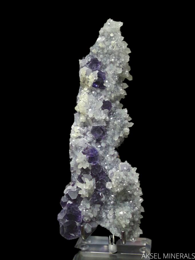 AM488 - Fluorite sur Quartz - Dongposhan Mine, Dongpo ore field, Yizhang Co., Chenzhou, Hunan, Chine