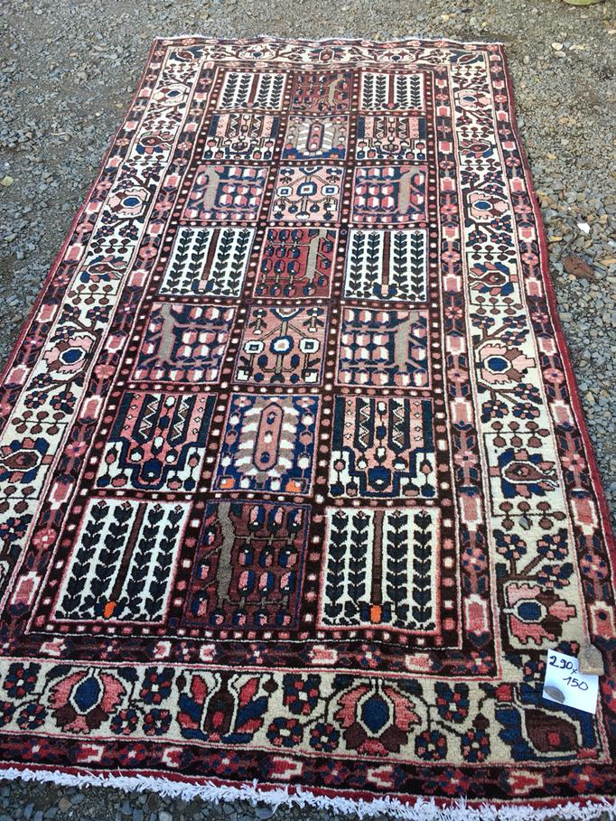 tapis en laine nouée main 290x150