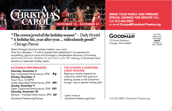 A Christmas Carol - Print Postcard (Goodman Theatre)