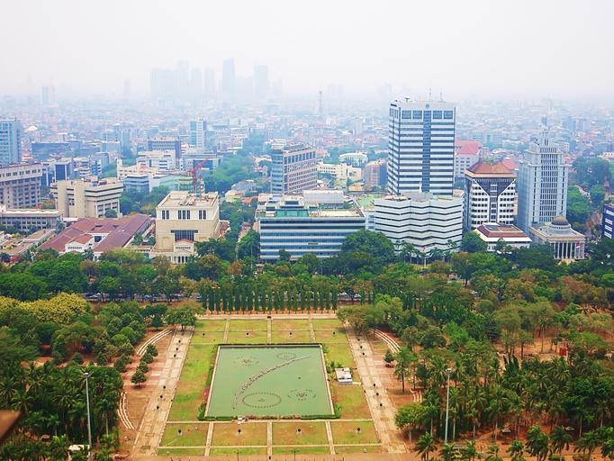 Ausblick vom National Monument über Jakarta