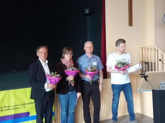 Danksagungen nach dem Hauptvortrag (Prof. Dr. Bräunig) und den Betroffenen-Beiträgen (Anne, Burkhard, Jeremy).