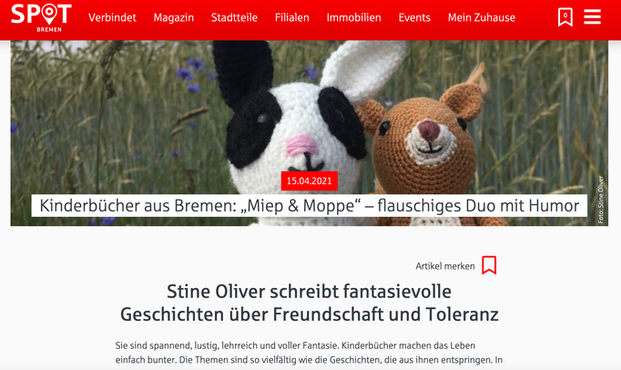 SPOT-Magazin Bremen (Interview: 15.04.2021)