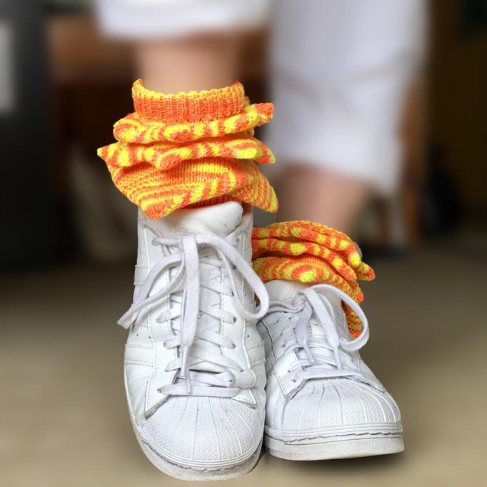 spiked socks