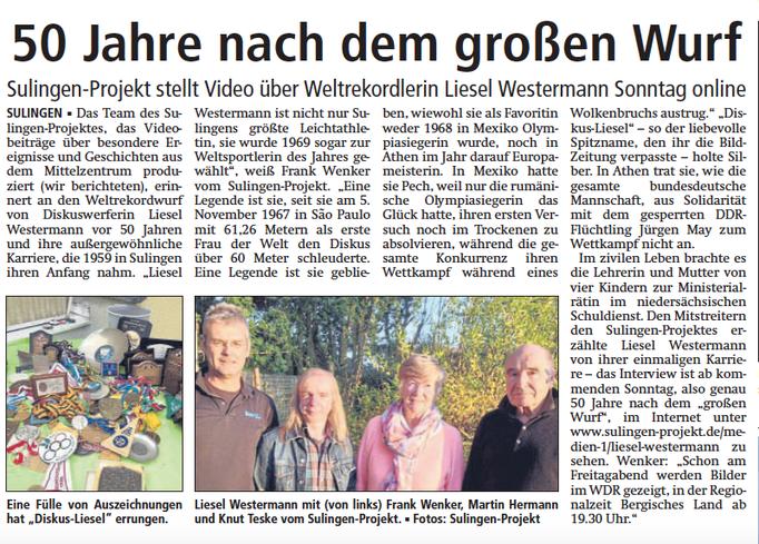 Sulingen Kreiszeitung, 03.11.2017