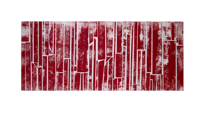 Red C-Scape 60 x 25 cm Mixed media