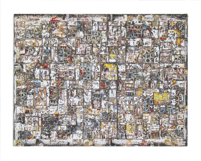 White Favela 122 x 97.5 cm Mixed media