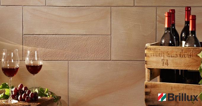 Sandsteinoptik, Sandstein-Look, Sandsteinimitation von GERZEN wand-design