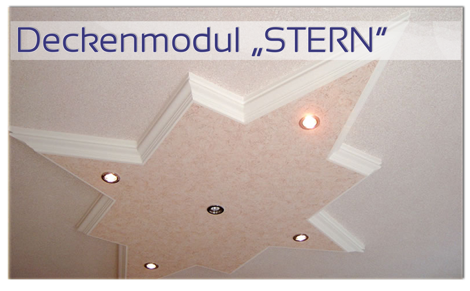 """Deckenmodul """"STERN"""" von GERZEN wand-design"""