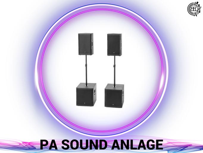 DJ, Eventtechnik, Ton, Video und Licht verleih. Lautsprecher.