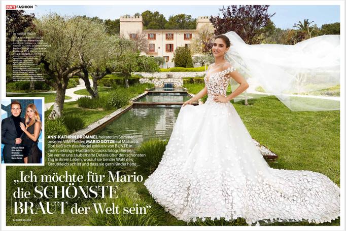 Ann-Kathrin Götze for Bunte Magazine