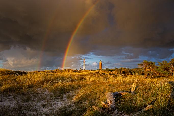 Regenbogen über dem Darßer Ort II