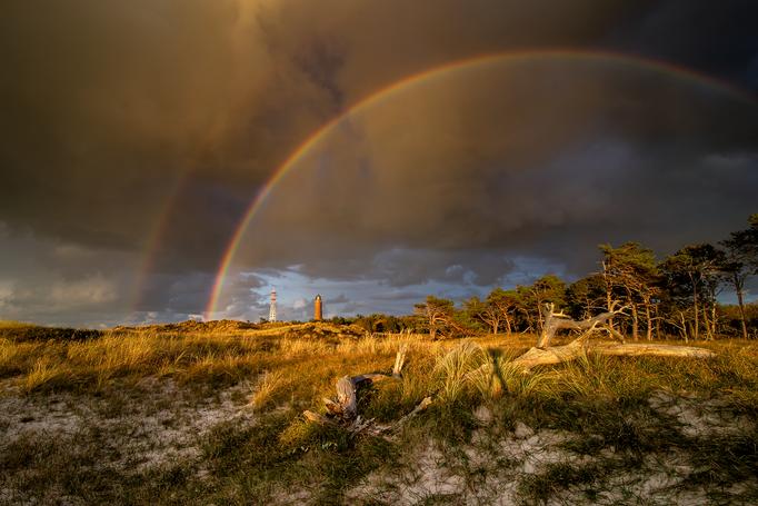 Regenbogen über dem Darßer Ort I