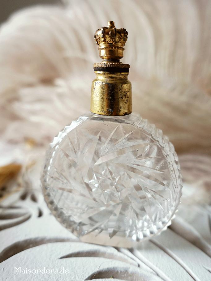 Antiker Parfum-Flakon mit Kronen-Verschluß