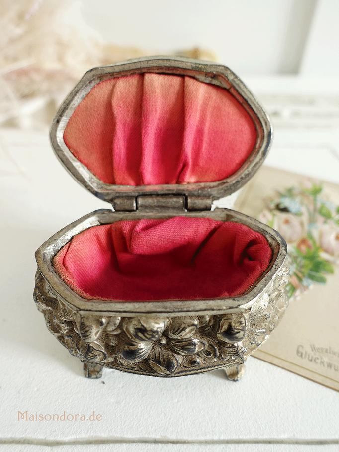 Antike Jugendstil Mini Schatulle Andenkendose