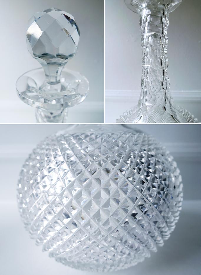 Antike Kristall Karaffe Sternschliff