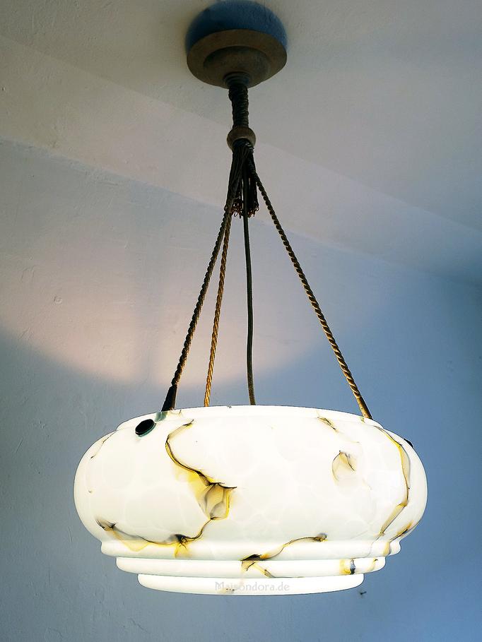 Art Deco Deckenlampe Lampenglas marmoriert