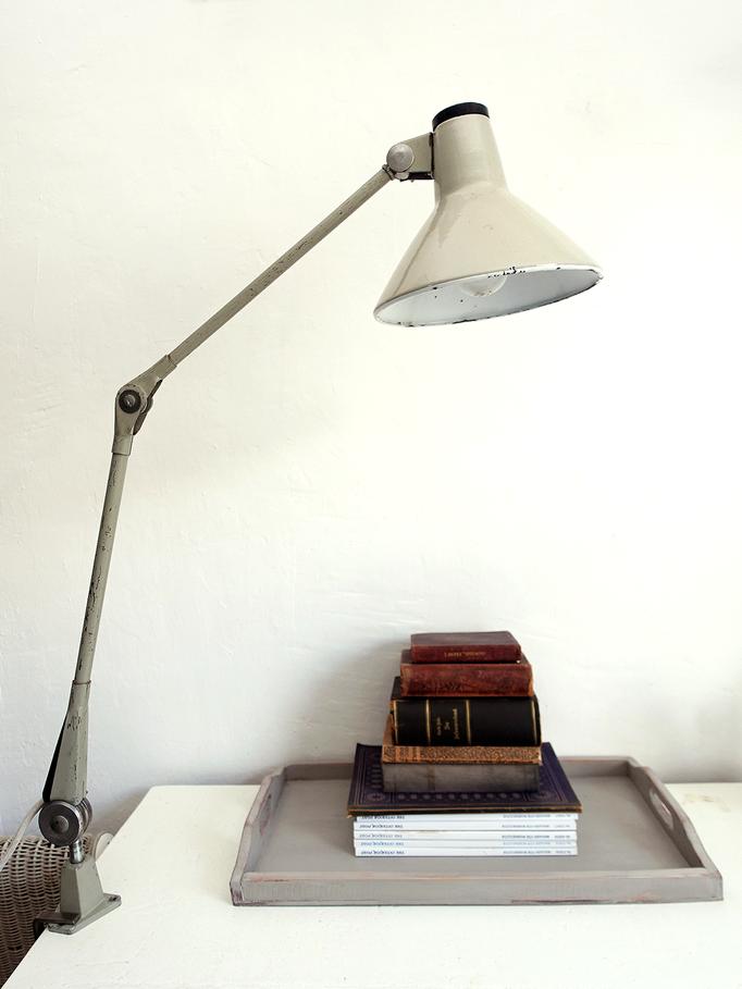 Vintage Bürolampe Werkststattleuchte Klemmlampe Rademacher