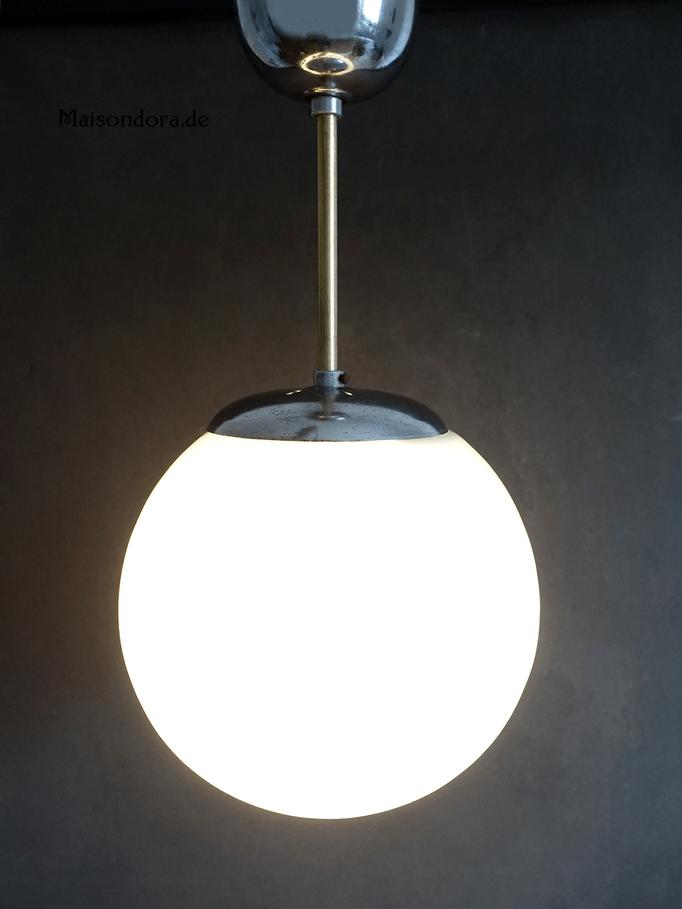 Bauhaus Kugellampe Oplaglas undChrom
