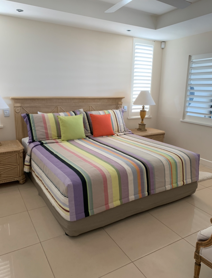 Les Toiles du Soleil striped cotton canvas bed and pillow covers
