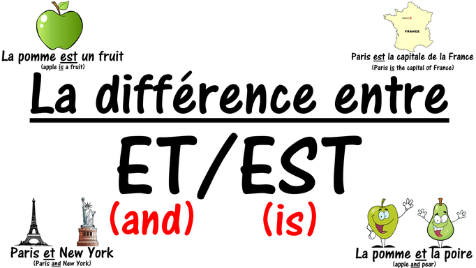 Difference betwen ET and EST in French