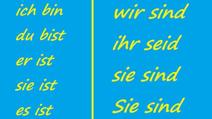 Sein Conjugation Song - Lied Konjugation Sein