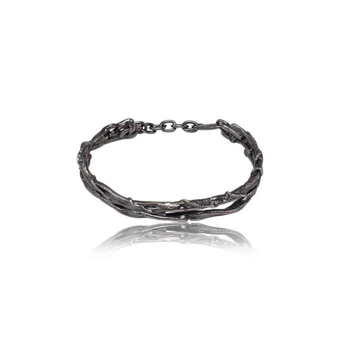 "Caroline Ertl - Armband aus der Serie ""Glam Rocker"" - Silber geschwärzt"
