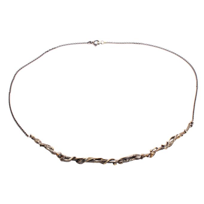 """Caroline Ertl - Halskette aus der Serie """"Wired"""" - Silber geschwärzt, Gold"""