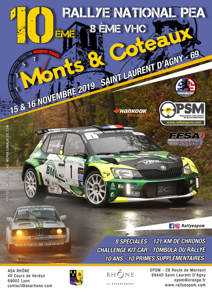 10ème rallye monts et coteaux 2019