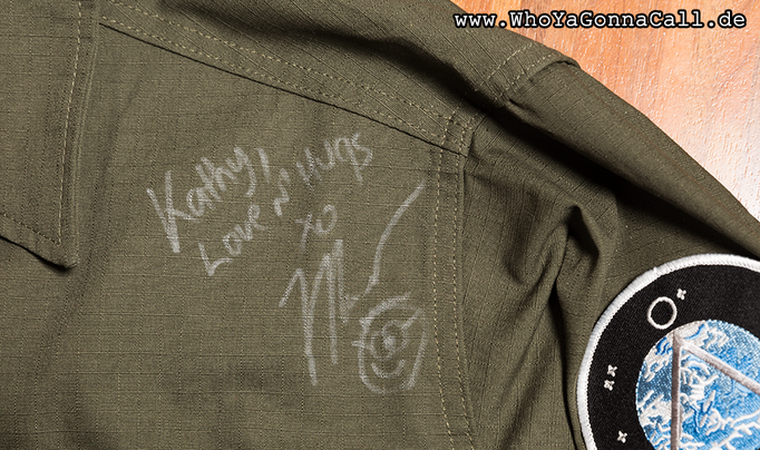 my personalized autograph on the jacket Michael Shanks wore for the picture <3 © pic by shinzo //degoutrie fotografie