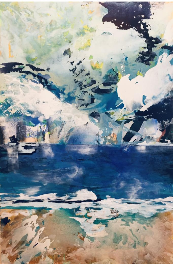 """View to the sea"" B100xH150cm, Acryl auf LW"