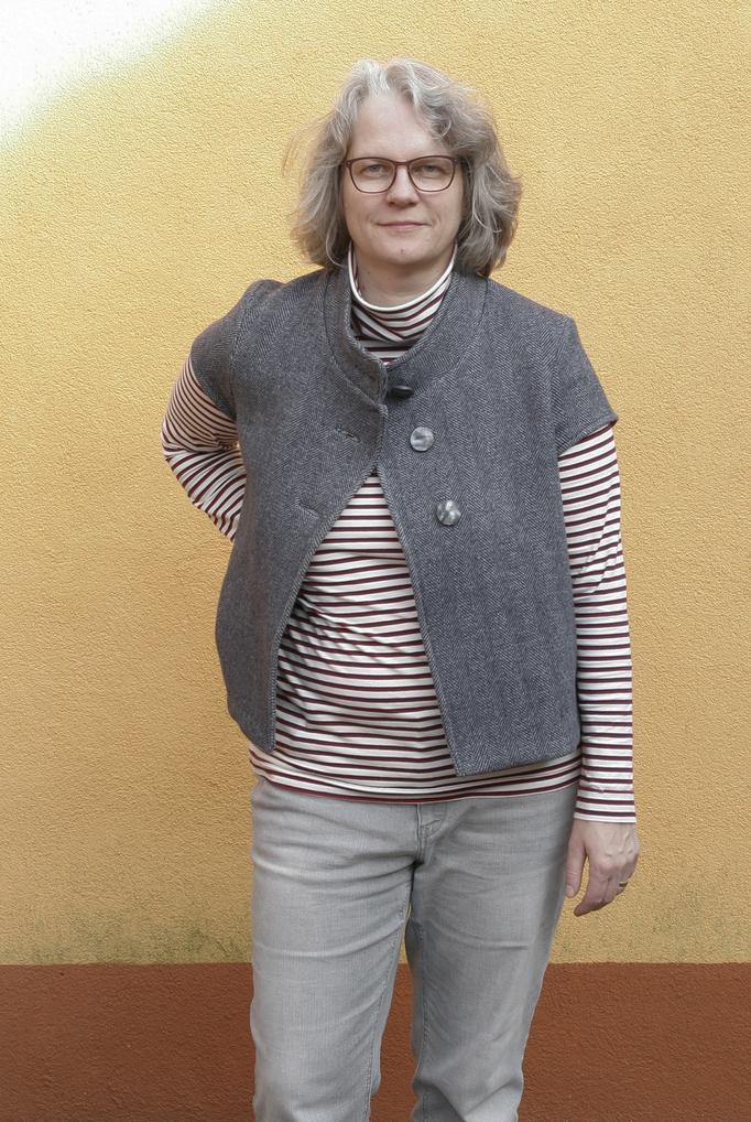 Kopierte Weste mit Rollkragenshirt © GriseldaK 2018