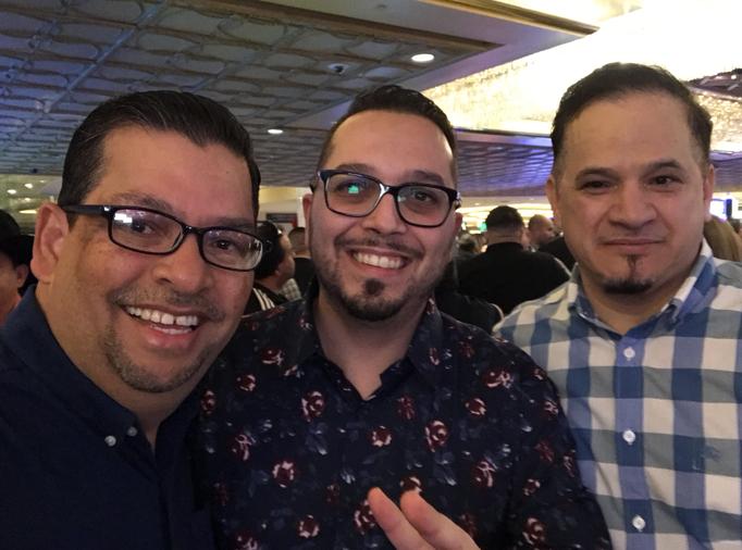 Con Miguel Caballo Blanco y Jesus Martinez (Apollo)