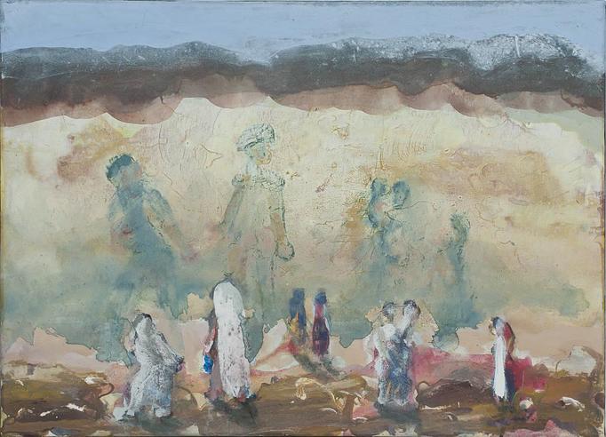 2012, Die Ahnen, 50x70, Acryl-Leinwand