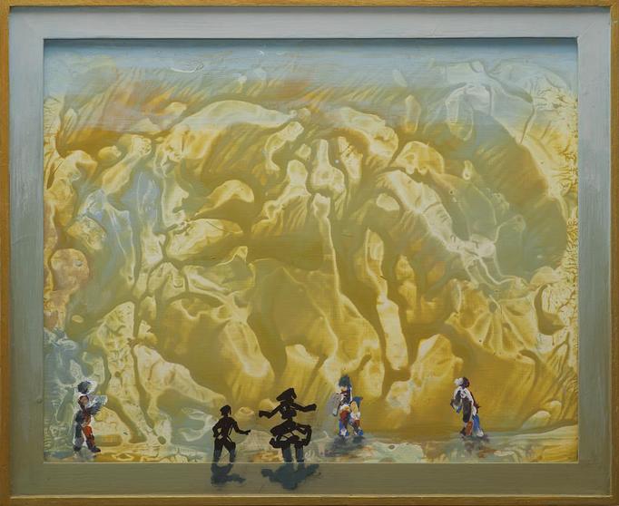 2012, Labyrinth, 50x60, Acryl-Holz