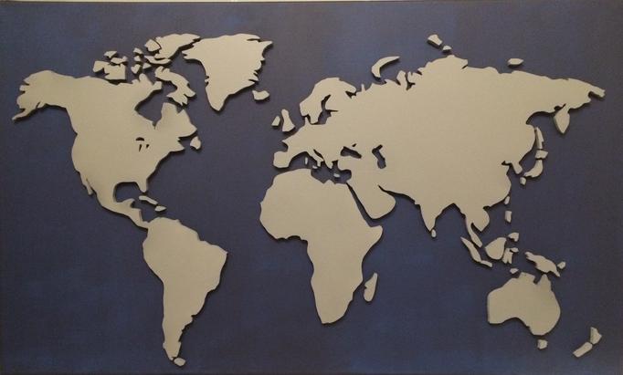 Indigo & Neutralgrau 5 (100x60 cm)