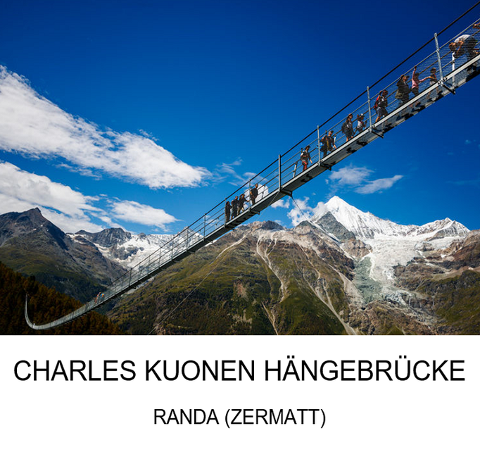 Ausflugsziel: Charles Kuonen Hängebrücke