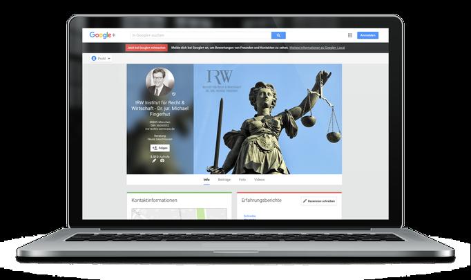 IRW Institut für Recht & Wirtschaft – Dr. jur. Michael Fingerhut in München bei  Google My Business für Unternehmen (ehem. Google Local Places)