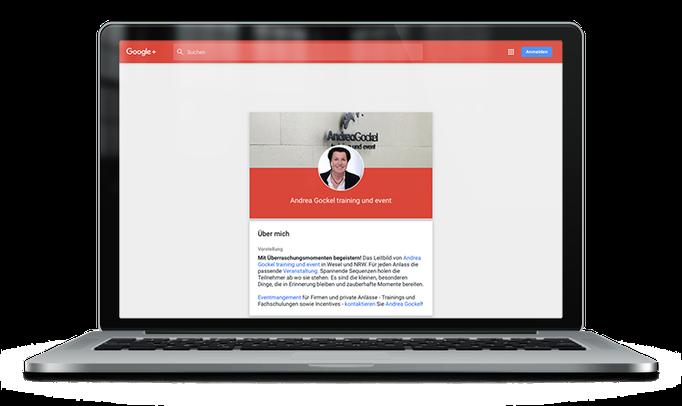 Andrea Gockel – training und event bei Google+