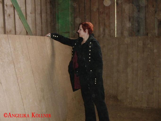 Angelika bei der Basismessung. #Ghosthunters #paranormal #Spuk