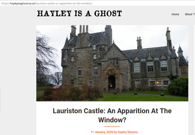 Headline Hayley is a ghost #Lauriston #paranormal #ghost #ghosthunter