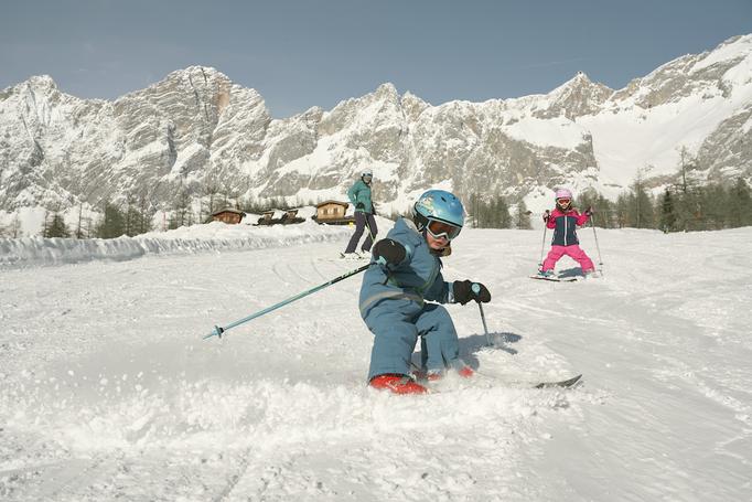 Ski fahren Kinder