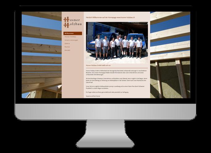 Hosner Holzbau GmbH Röthenbach - Sonma | Scheidegger Online Marketing - Ihr KMU-Partner für Webdesign und Social Media