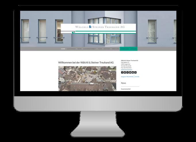 Wälchli & Steiner Treuhand AG Langenthal - Sonma | Scheidegger Online Marketing - Ihr KMU-Partner für Webdesign und Social Media