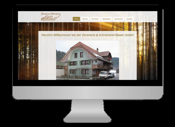 Zimmerei & Schreinerei Blaser GmbH Röthenbach - Sonma | Scheidegger Online Marketing - Ihr KMU-Partner für Webdesign und Social Media