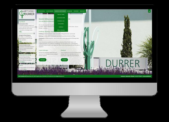 Durrer Gartenbau AG Herzogenbuchsee  - Sonma | Scheidegger Online Marketing - Ihr KMU-Partner für Webdesign und Social Media