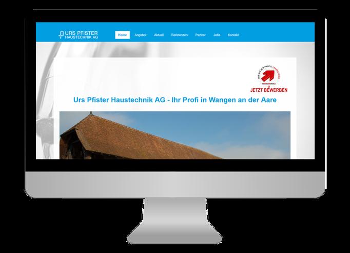 Urs Pfister Haustechnik AG - Sonma | Scheidegger Online Marketing - Ihr KMU-Partner für Webdesign und Social Media