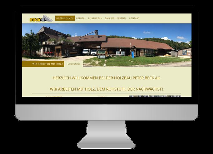 Holzbau Peter Beck AG Niederönz - Sonma | Scheidegger Online Marketing - Ihr KMU-Partner für Webdesign und Social Media