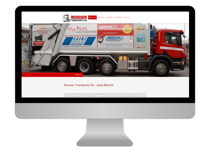 Reusser Transporte AG Biberist - Sonma | Scheidegger Online Marketing - Ihr KMU-Partner für Webdesign und Social Media